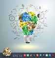 Great idea concept with crumpled colorful paper vector image vector image