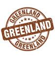 greenland brown grunge round vintage rubber stamp vector image vector image