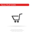 grocery trolley icon for web business finance vector image