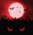 Halloween evil eyes background vector image vector image