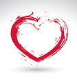 Hand drawn red love heart icon loving heart sign vector image