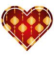 heart love lantern decoration pattern vector image