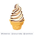 ice cream refreshing dessert vector image