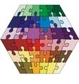 jigsaw puzzle cuboid vector image vector image