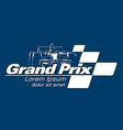 Logo grand prix racing event vector image vector image