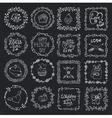 Love heart doodle brushesValentinewedding frame vector image vector image