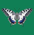low poly butterfly vector image vector image
