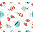 merry christmas winter holiday seamless pattern vector image vector image