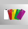 new iphone 11 flat graphic vector image vector image