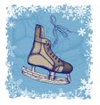 New year background with skates vector image vector image