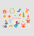 new year stickers vector image vector image