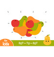 numbers game dot to dot game for children fruit vector image vector image