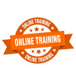 online training ribbon online training round vector image vector image