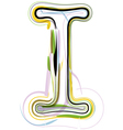 Organic Font letter i vector image vector image