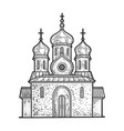 orthodox christian church sketch vector image
