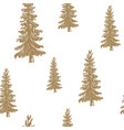 pine tree hand drawn sketch retro vintage vector image vector image