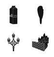 products history and or web icon in black style vector image vector image