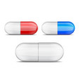 realistic pills collection set of red vector image