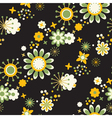 seamless pattern of decorative flowers vector image
