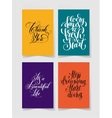 set of four bright colors handwritten lettering vector image vector image