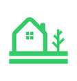 simple eco friendly home tree logo vector image