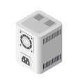 single server power supply adapter technology vector image