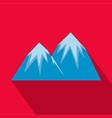snow peak icon flat style vector image vector image