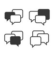 speech chat bubbles set on white background vector image