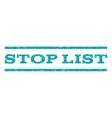 Stop List Watermark Stamp vector image