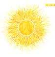 Summer sun with sunburst and geometric pattern vector image