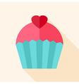 Sweet cute cupcake vector image