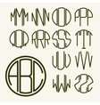 Template letters to create monogram vector image vector image