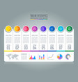 timeline infographic business concept with 8 vector image vector image