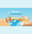 travel world concept vector image vector image