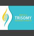 trisomy awareness month vector image vector image