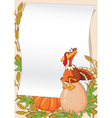 turkey and egg background vector image vector image