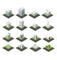 Urban isometric icons vector image