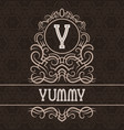 vintage label design template for yummy product vector image vector image