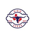 vintage retro long horn texas star map logo design vector image vector image