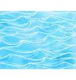 watercolor sea waves vector image vector image