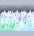 winter landscape with icy frozen spruce forest