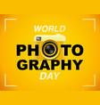 world photography day eventa banner logo vector image vector image