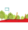 Convertible Park Scene vector image