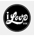 I love you lettering for a card vector image