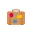 suitcase icon flat vector image
