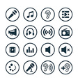 audio icons universal set vector image