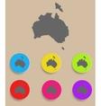 Australia Map - icon isolated
