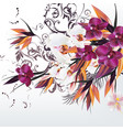 background with orchid flowers vector image vector image