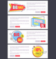 big sale and 10 off price web vector image