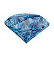 blue diamond isolated on white background vector image
